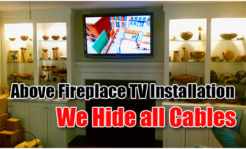 """above-fireplace-tv-installation-Chesapeake"