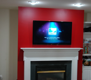 Over Fireplace Tv Installation Drywall