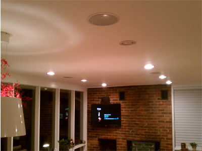 roof speakers in wall u0026 in ceiling speaker installation toronto leslievillegeek tv. Black Bedroom Furniture Sets. Home Design Ideas