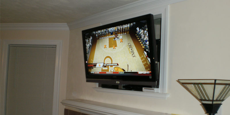 Over Fireplace TV Installation Nook or Cut out