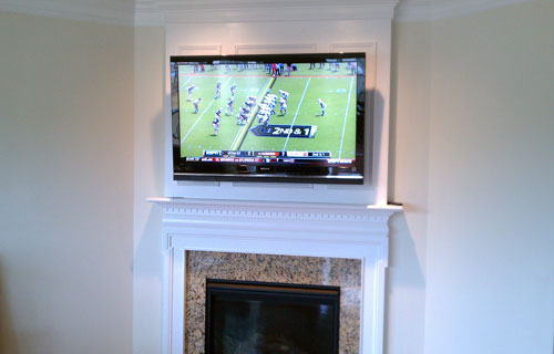 Over Fireplace TV Installation/ Drywall